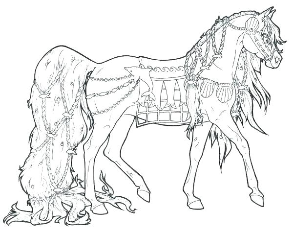 600x476 Printable Horse Coloring Pages