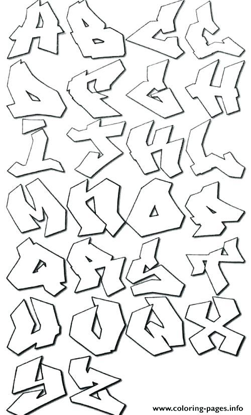 500x824 Arabic Coloring Pages Alphabet Letters To Color Graffiti Alphabet