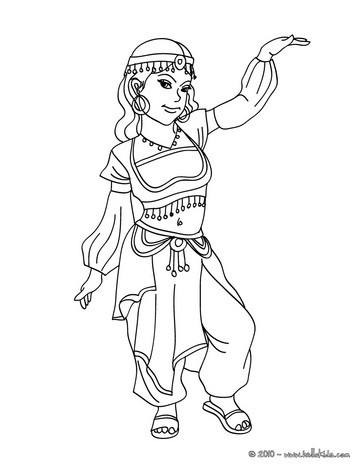 363x470 Arabic Princess Coloring Pages