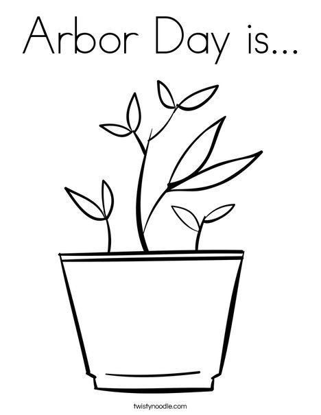 468x605 Arbor Day Is Coloring Page