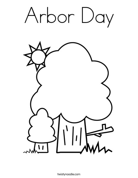 468x605 Arbor Day Coloring Page
