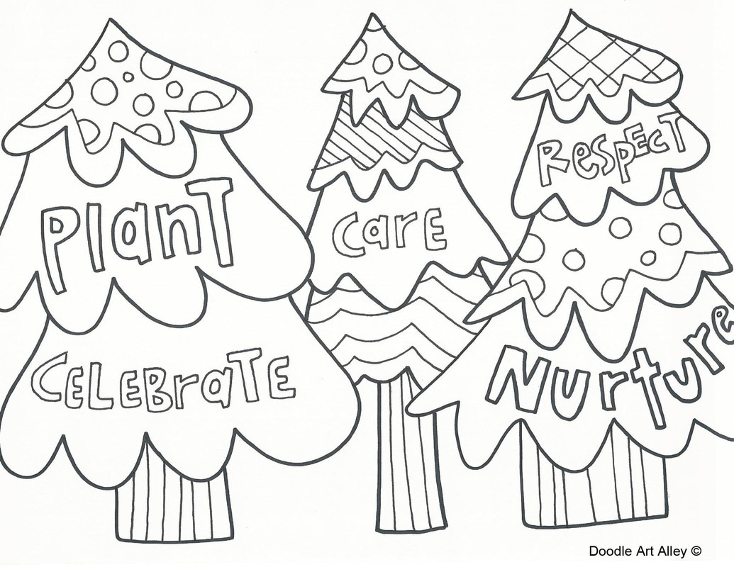 1035x800 Arbor Day Coloring Pages