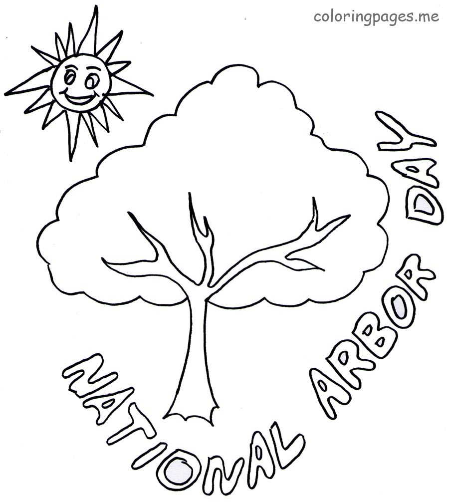 900x1006 Arbor Day Coloring Pages