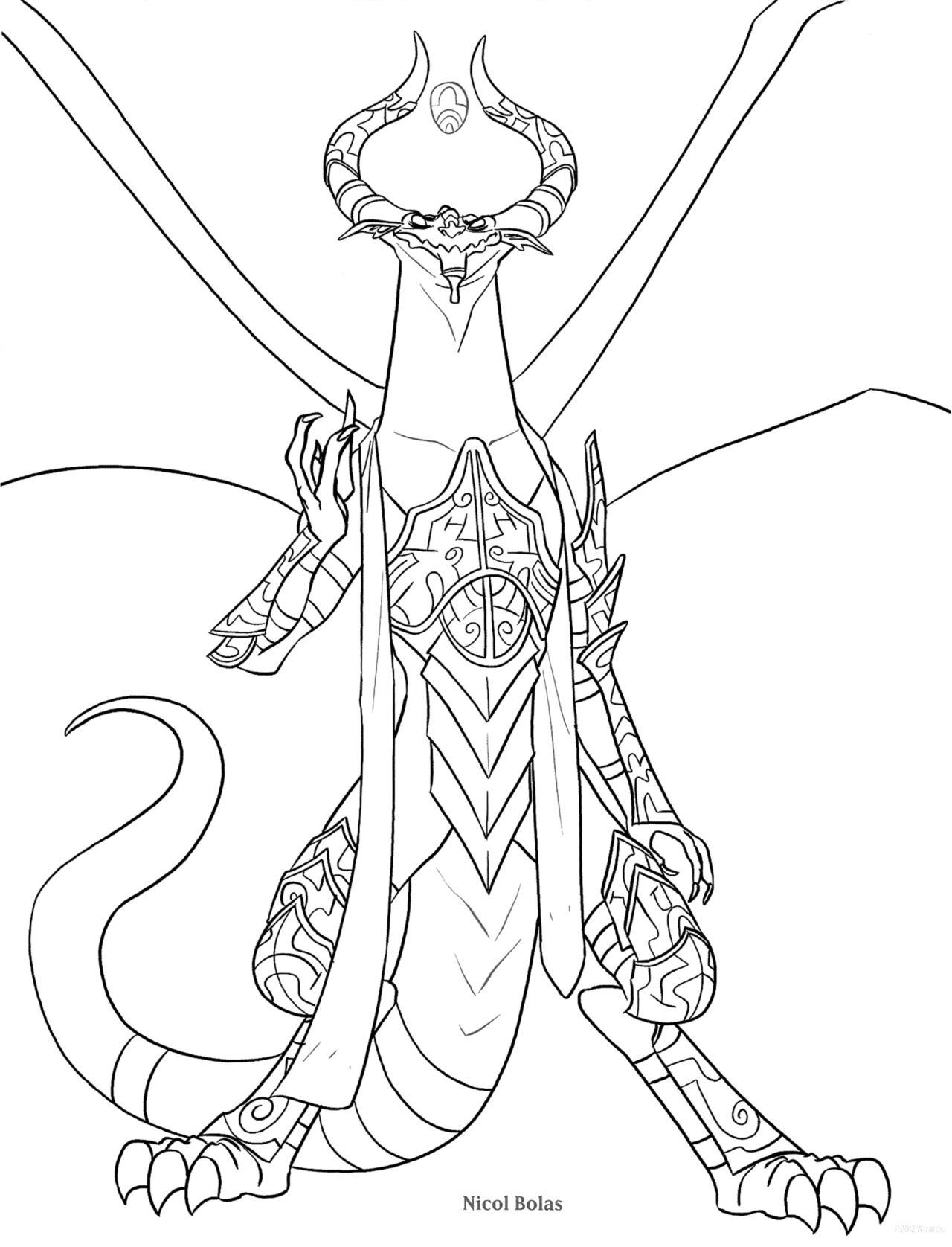 1280x1676 Magic The Gathering! Makimonstrous Scans Of The Coloring Pages