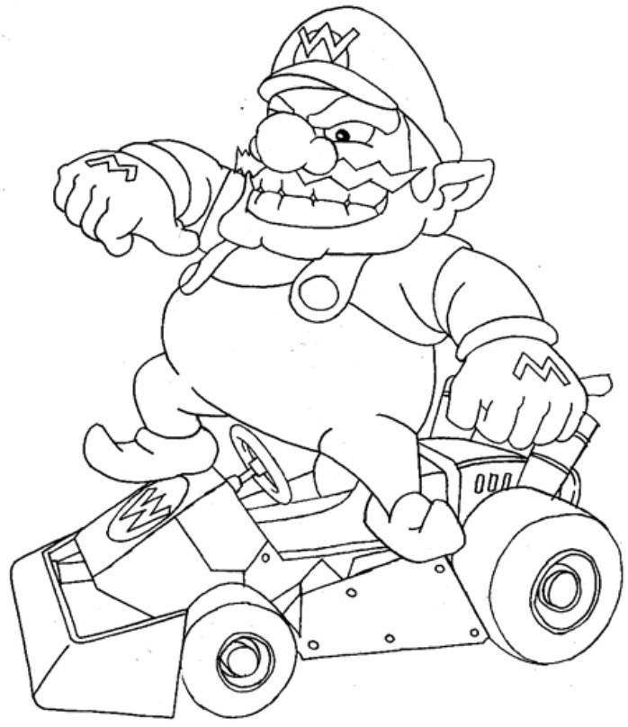 698x808 Mario Kart Coloring Pages Video Game Coloring Pages