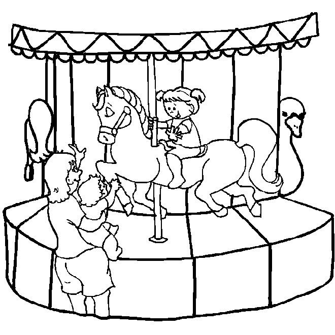 660x660 Miscellaneous Colouring Pages Miscellaneous Amusement Park