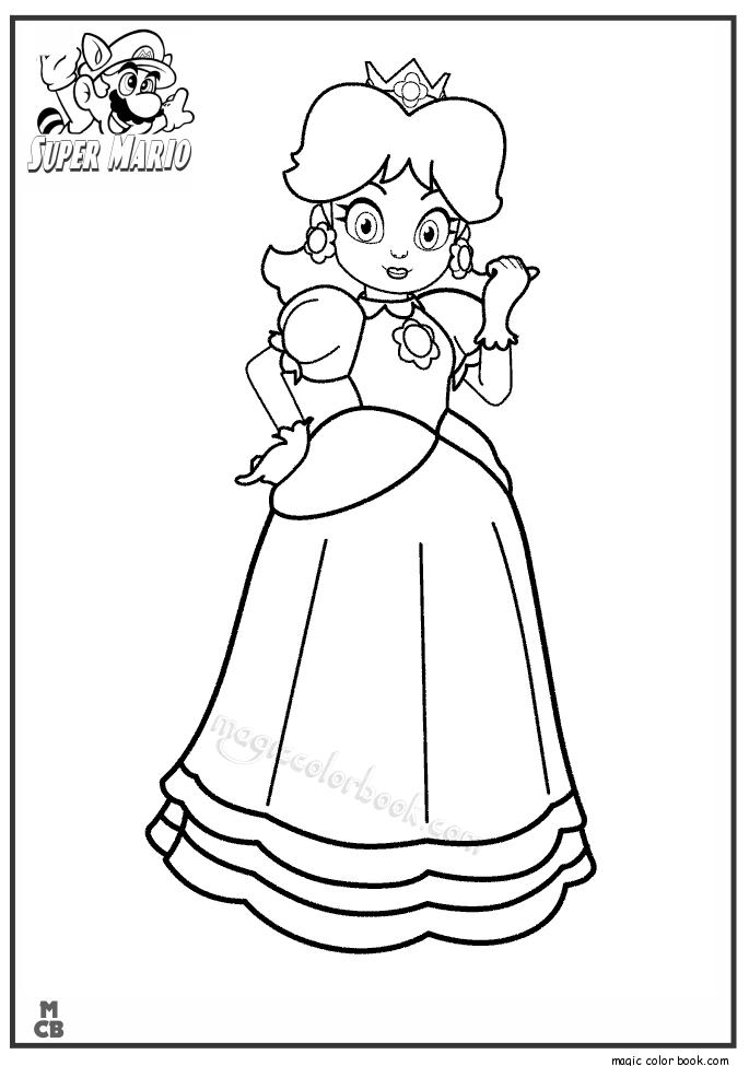 685x975 Princess Super Mario Coloring Pages