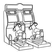 200x200 Printable Arcade Video Games Coloring Page