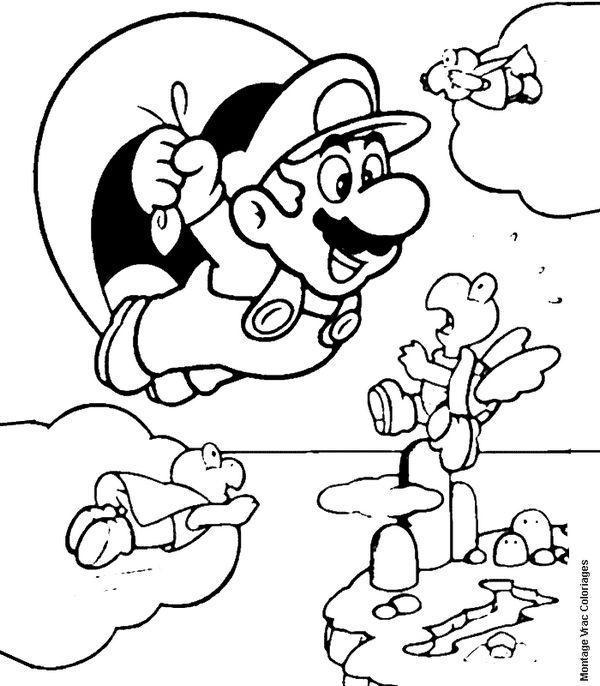 600x686 Desenhos Do Mario Para Colorir Imprimir Coloring