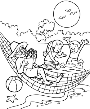 290x352 Summer Day Coloring Page School