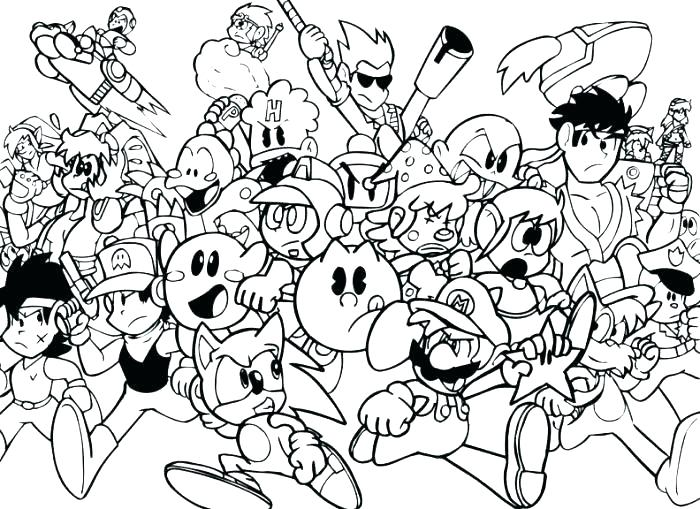 700x509 Video Games Coloring Pages