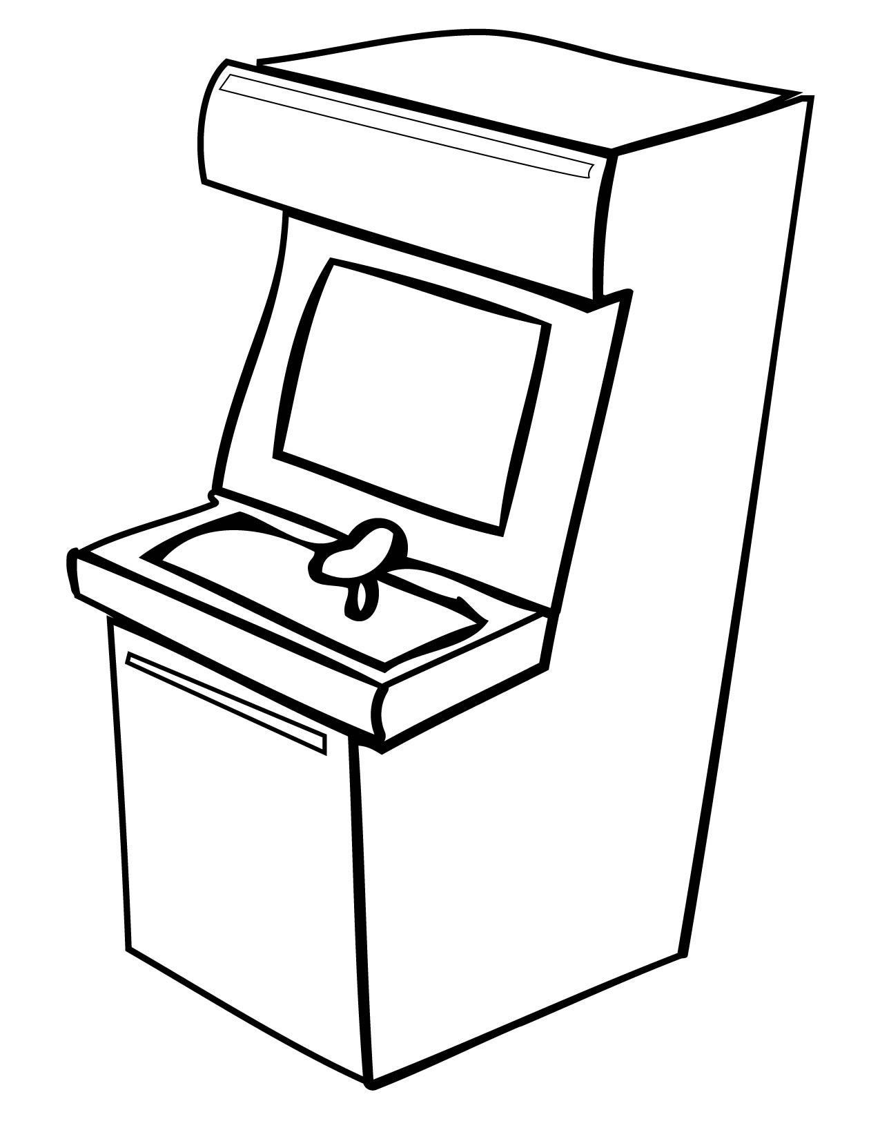 1275x1650 Arcade Coloring Page