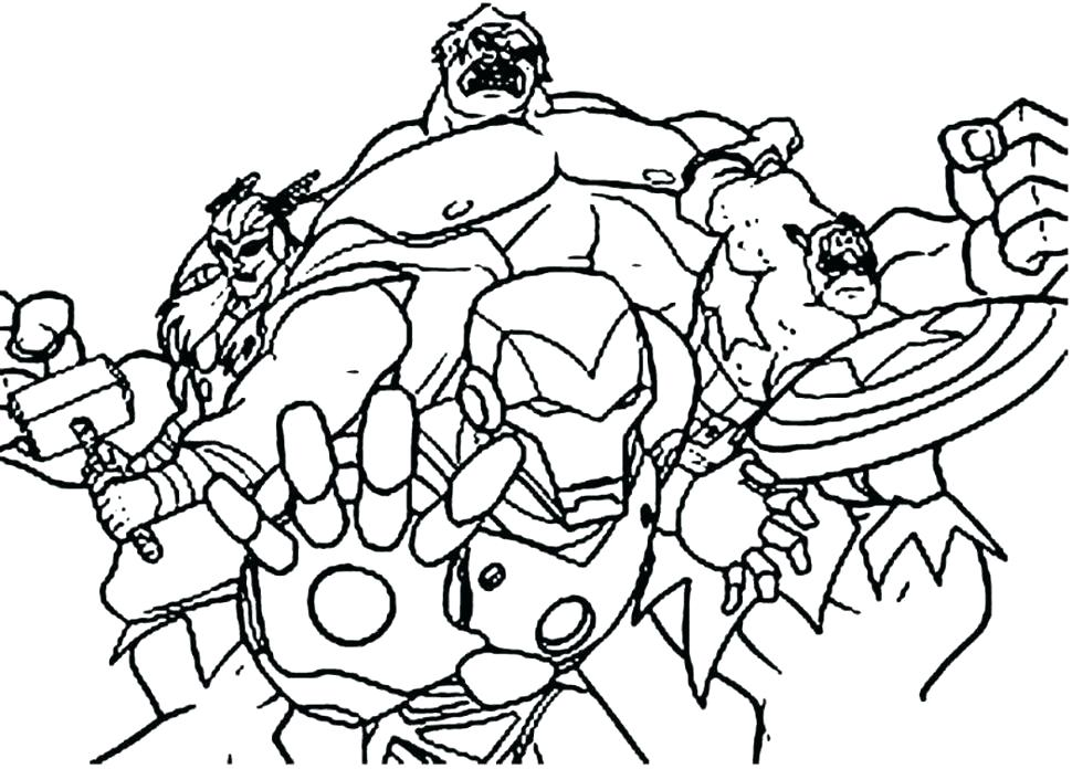 970x696 Avengers Coloring Book Pages