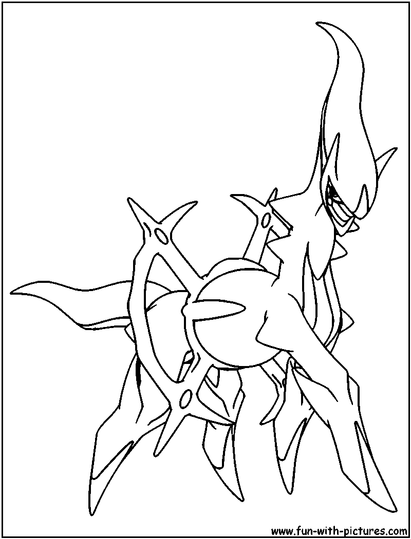 Arceus Coloring Pages