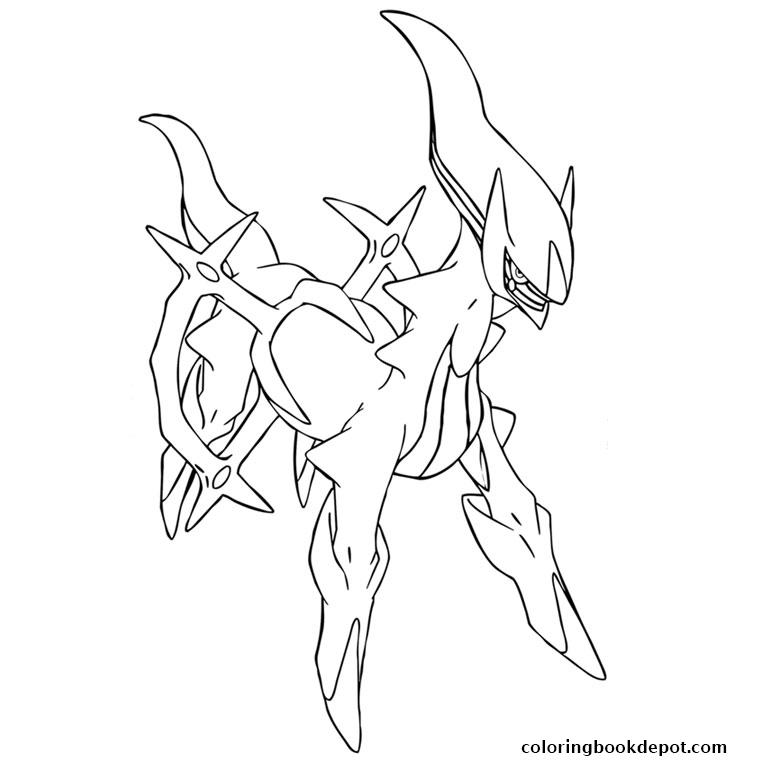 760x760 Arceus Pokemon Coloring Pages