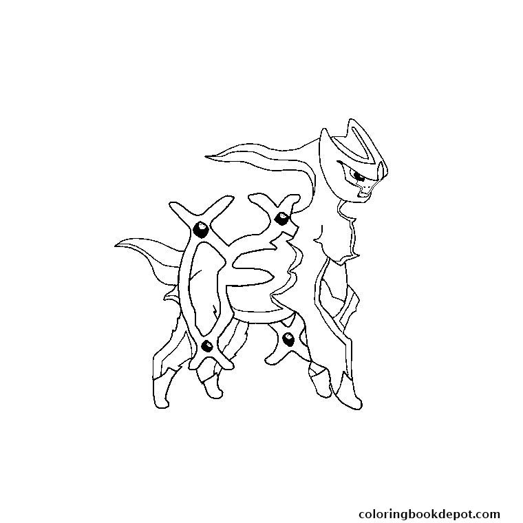 760x760 Pokemon Arceus Coloring Pages