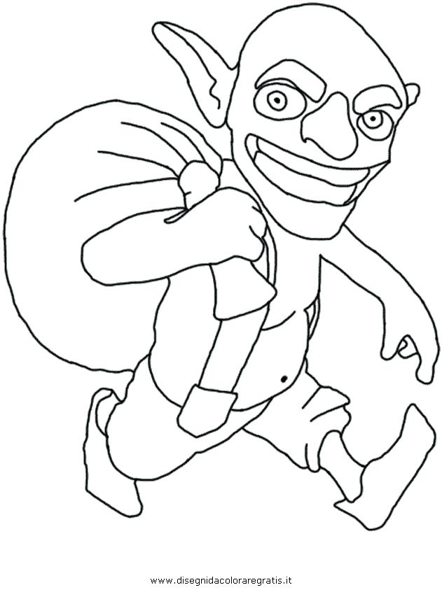 631x846 Clash Of Clans Coloring Pages Goblin Coloring Page Fine Picture