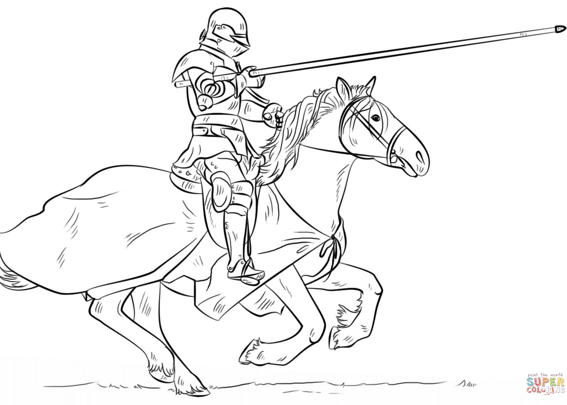 1152x824 Coloring Page Norman Archer At Knights Pages