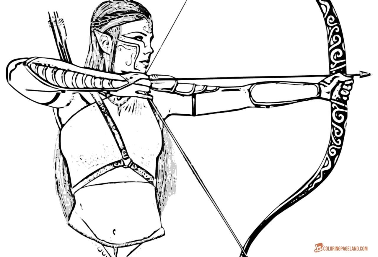 1280x870 Elf Archer Coloring Pages Bgcentrum
