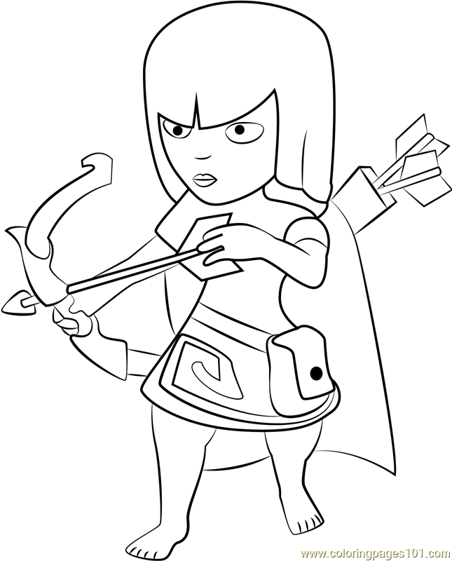 645x800 Archer Coloring Page