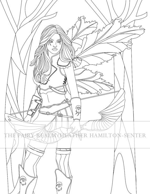 570x738 Items Similar To Fairy Coloring Page