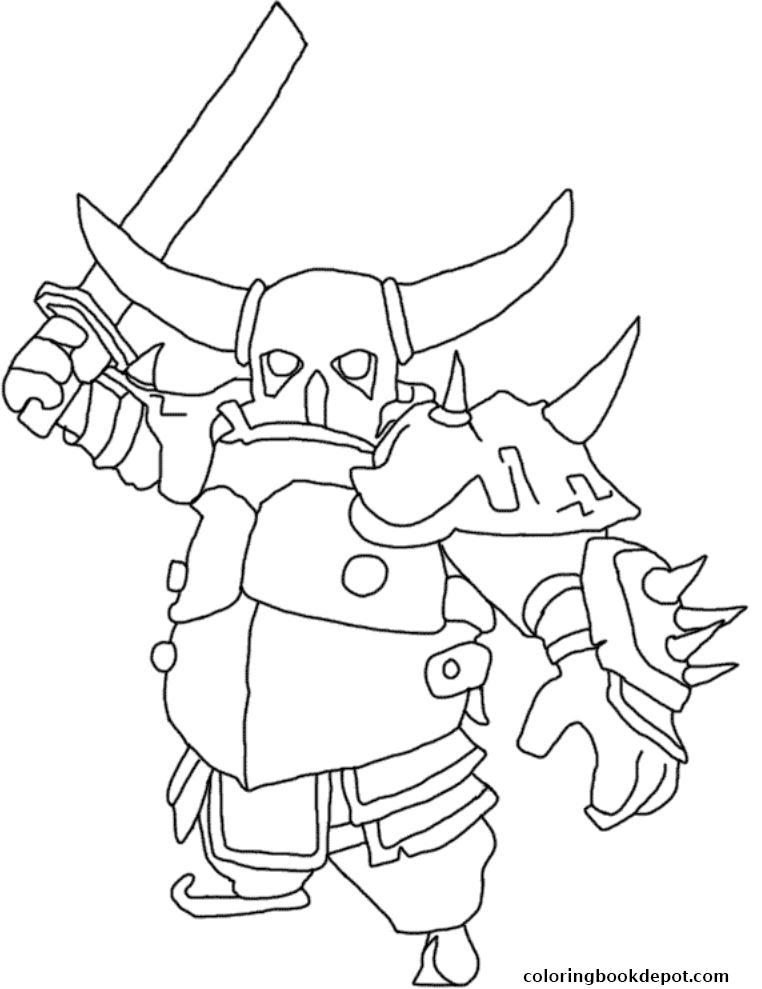 762x989 Print Archer Clash Of Clans Coloring Pages To Print Free