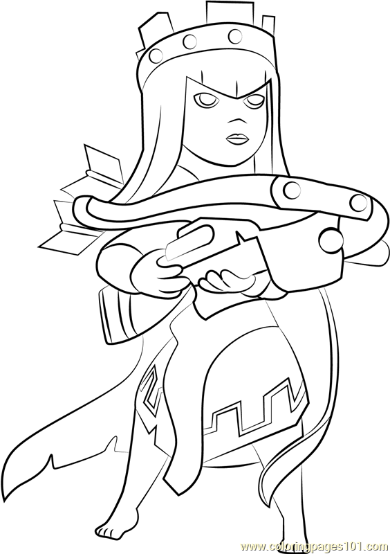 564x800 Queen Archer Coloring Page