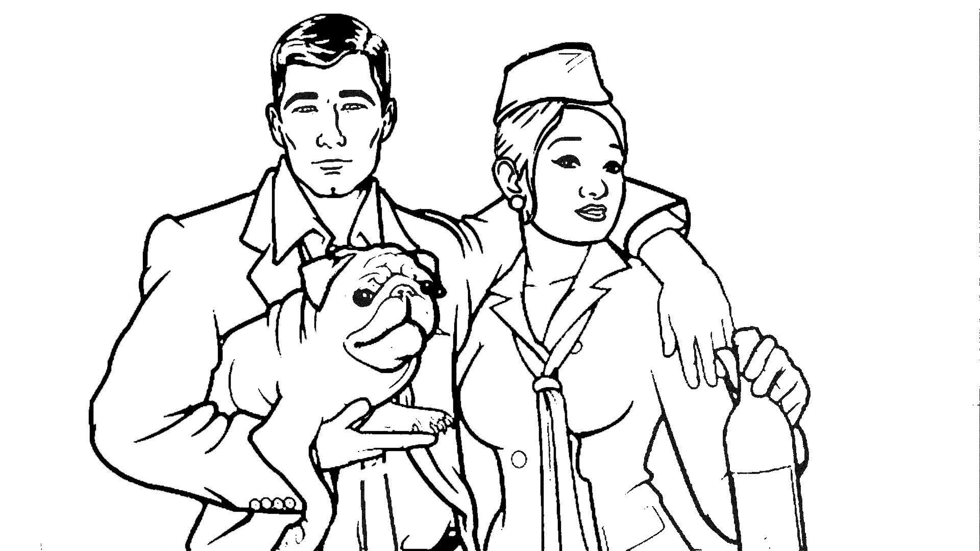 1920x1080 Archer Stewardess And Her Pug