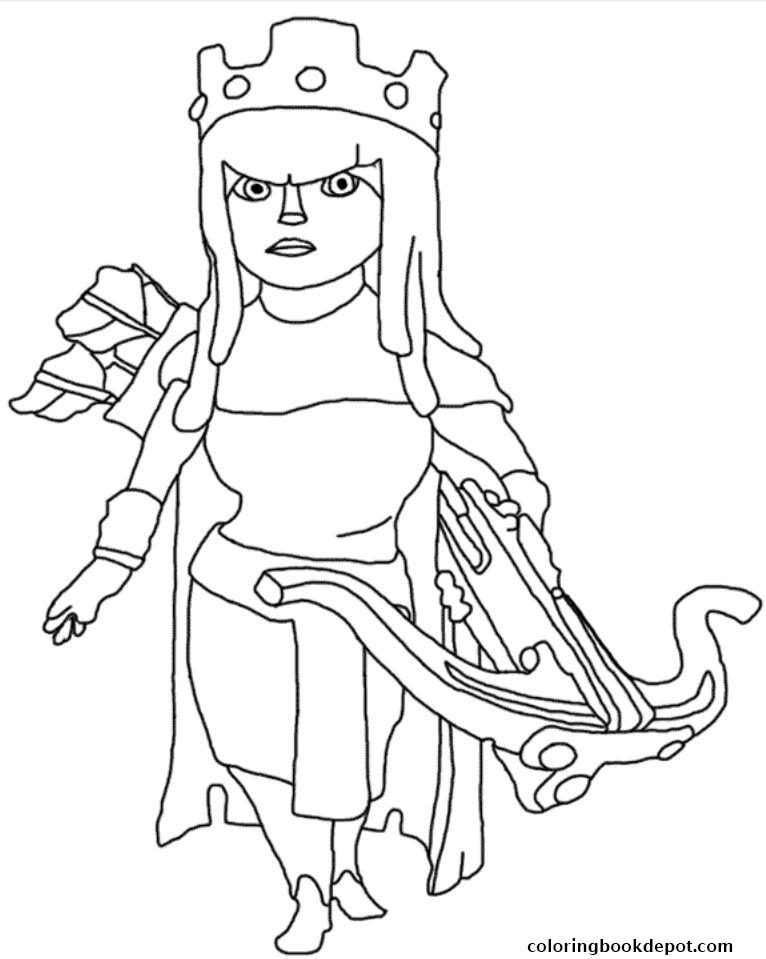 766x959 Archer Queen Clash Of Clans Coloring Pages Gallery Free Coloring