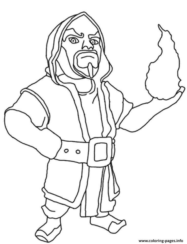 759x989 Clash Of Clans Coloring Pages Archer Queen