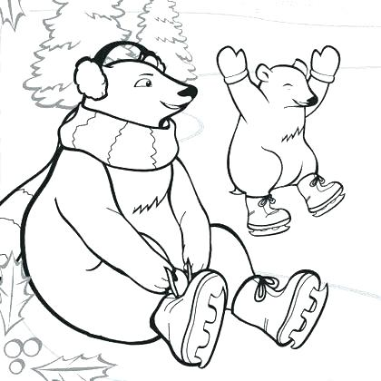 420x420 Arctic Coloring Pages Arctic Animal Coloring Pages Polar Animal