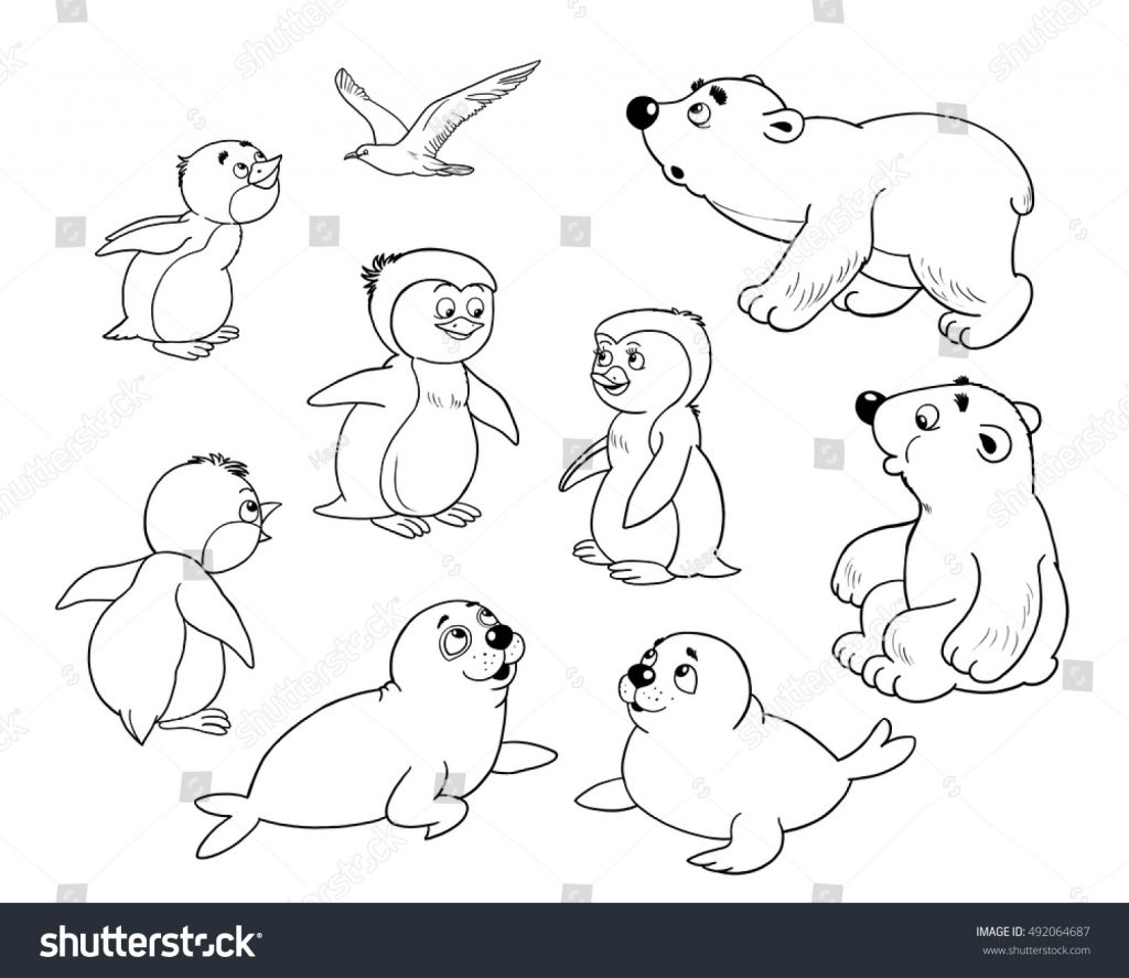 Arctic Animals Coloring Pages For Preschoolers at ...