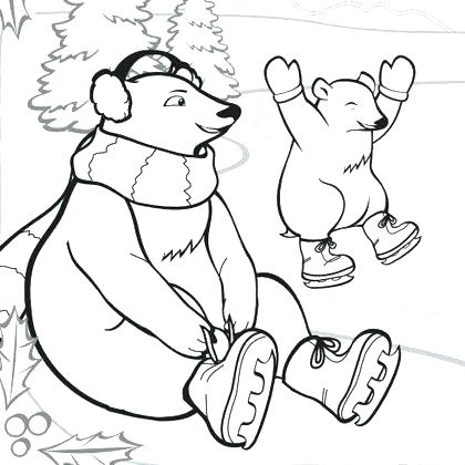 420x420 Polar Animals Coloring Pages Arctic Animals Coloring Page Free