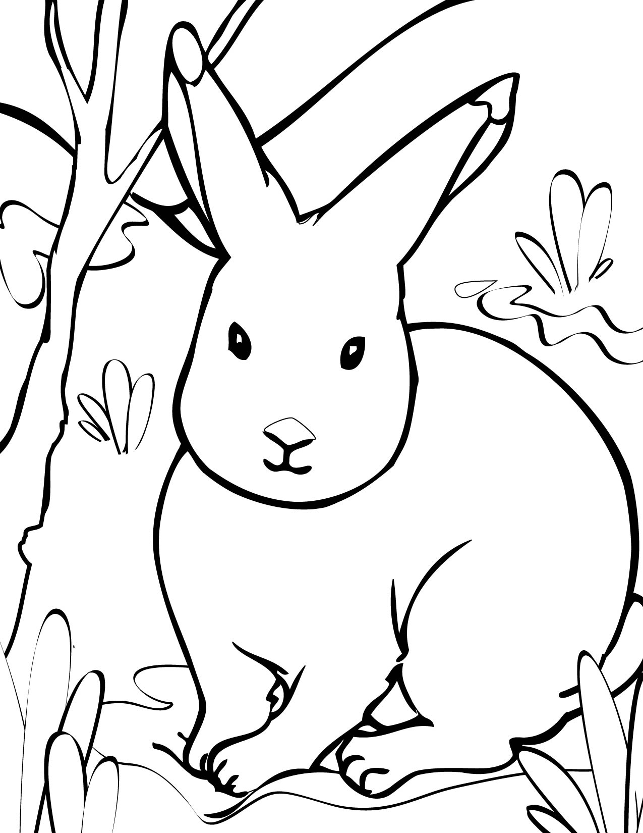 1275x1650 Arctic Hare Coloring Page