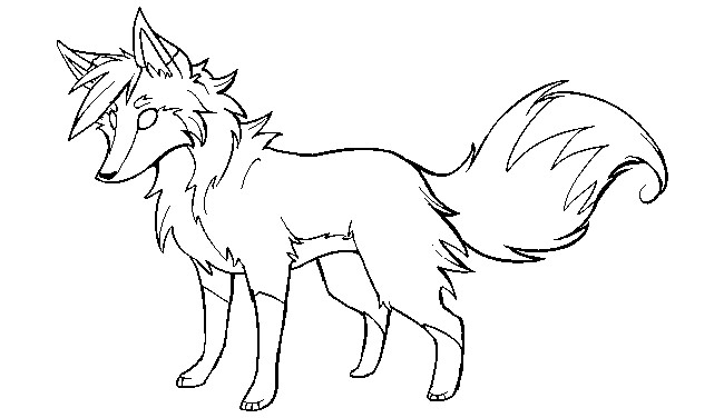 Arctic Fox Coloring Page