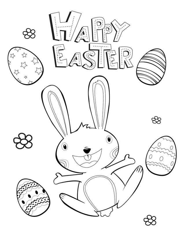 640x828 Happy Easter Coloring Page Many Interesting Cliparts
