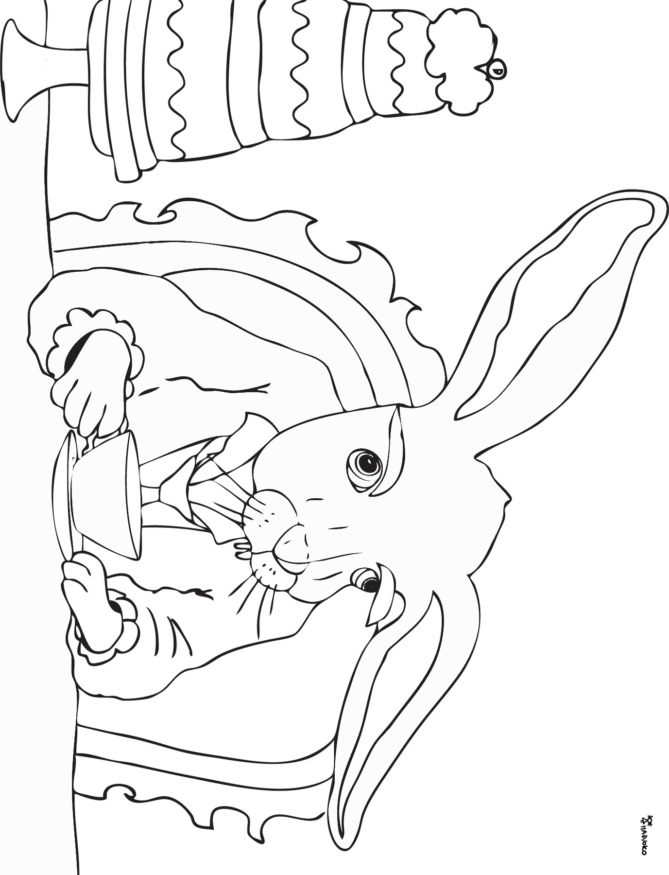 1377x1800 Alice In Wonderland Coloring Pages