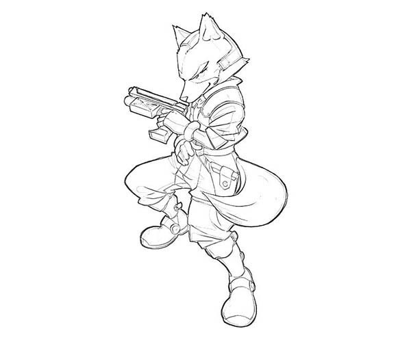 600x500 Star Fox Coloring Pages