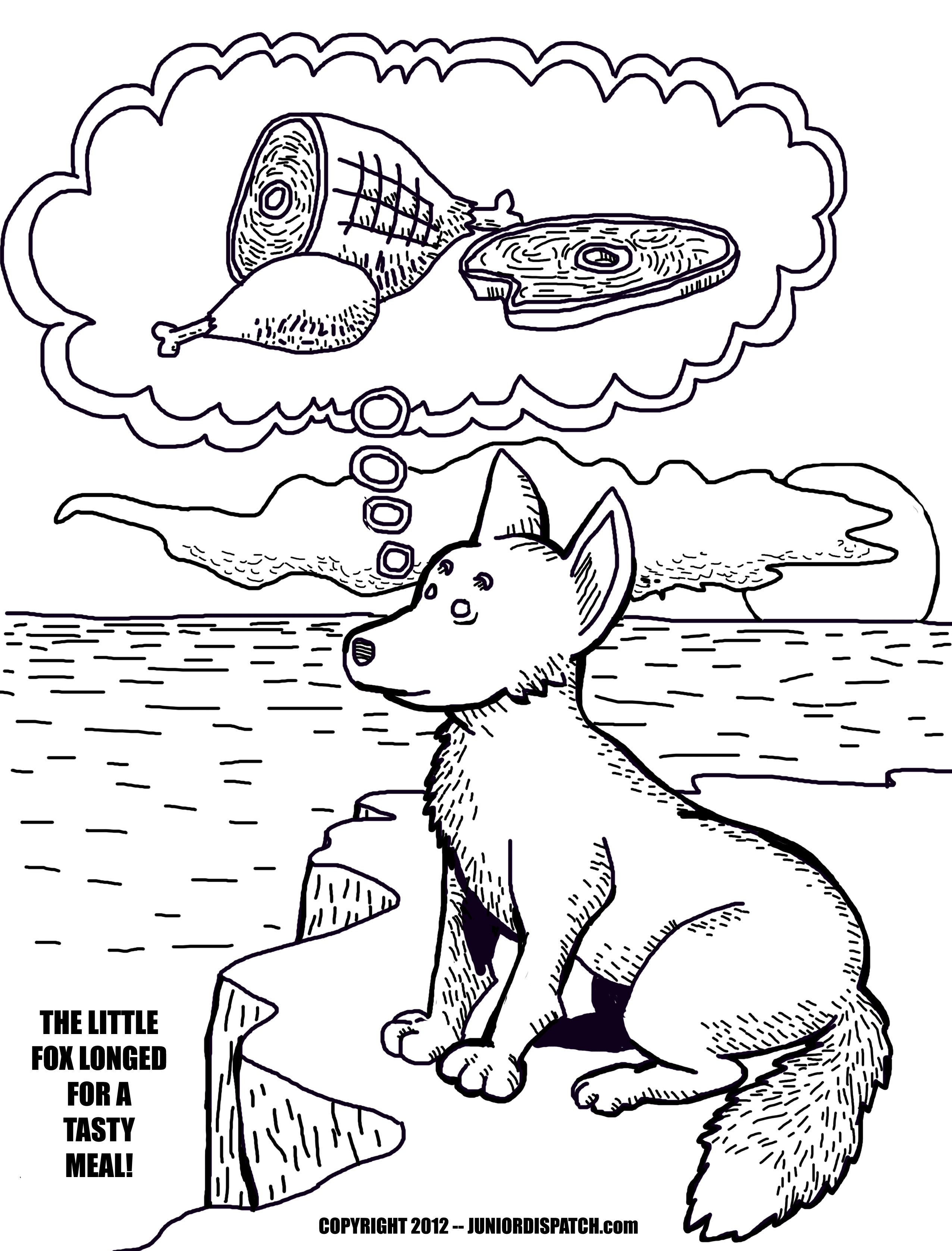 2552x3350 Arctic Coloring Page