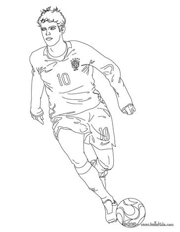 364x470 Argentina Coloring Pages Kaka Playing Soccer Coloring Page