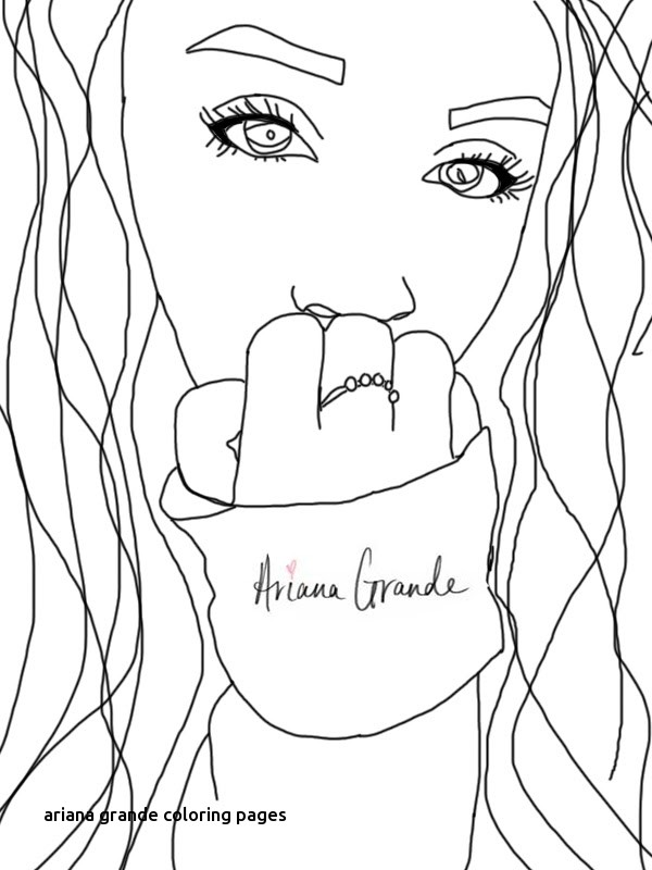 600x800 Ariana Grande Coloring Pages