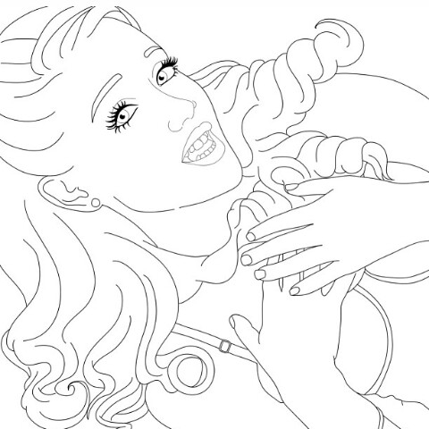 480x480 Ariana Grande Coloring Pages Ariana Grande Coloring Page Drawing
