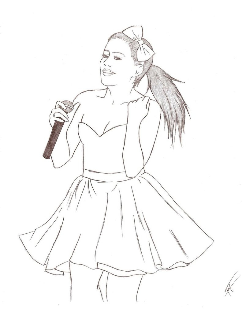 Ariana Grande Coloring Pages At Getdrawings Com Free For Personal