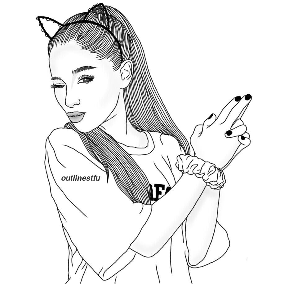 916x916 Ariana Grande Coloring Pages Awesome Ariana Grande Coloring Pages
