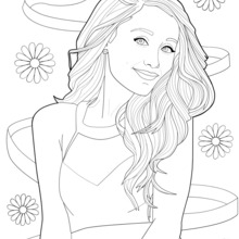 220x220 Ariana Grande Coloring Pages