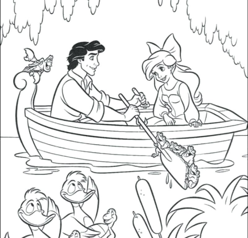 800x768 And Coloring Ariel And Eric Coloring Pages On A Date With Little