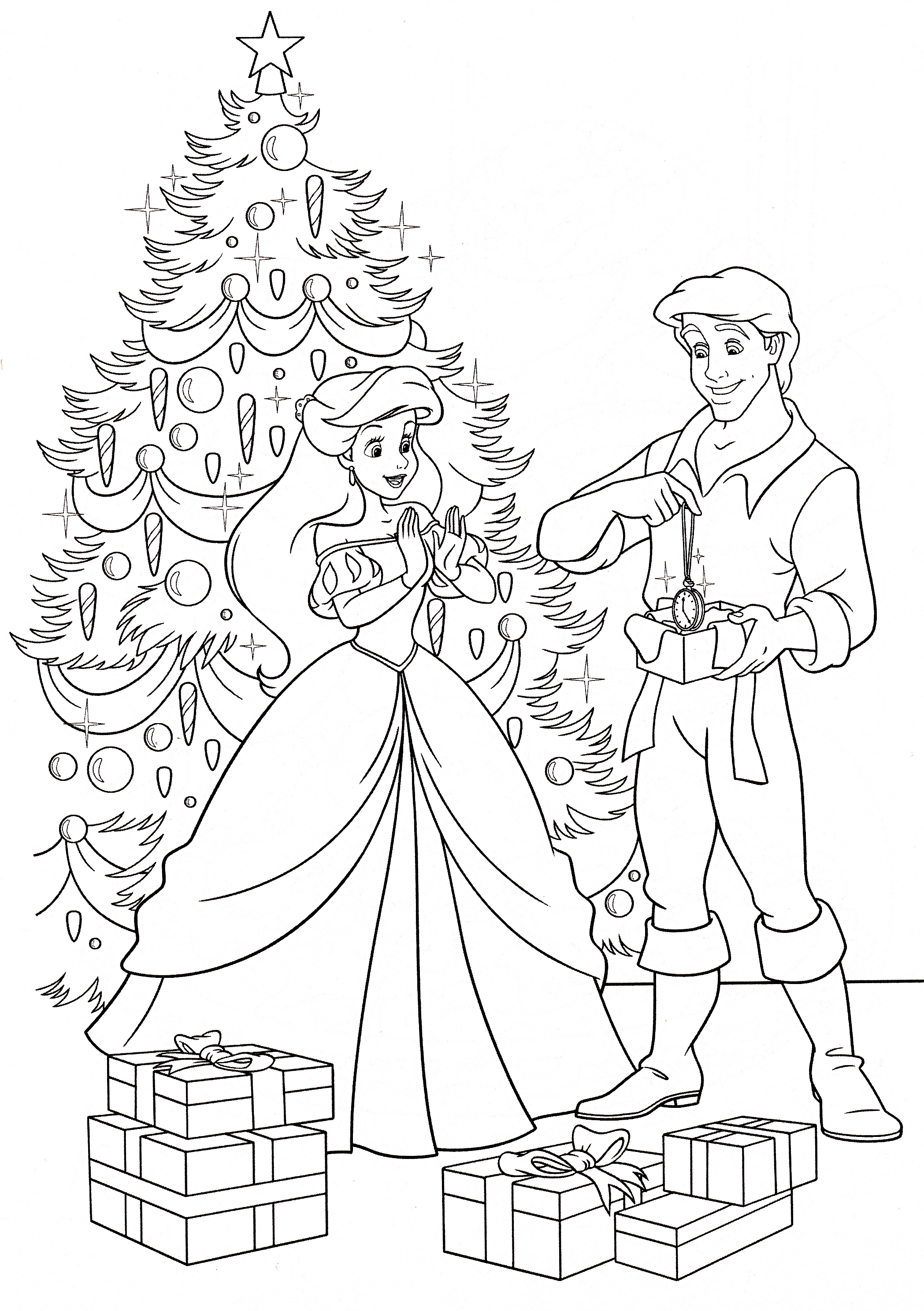 2097x2975 Ariel And Prince Eric Coloring Pages
