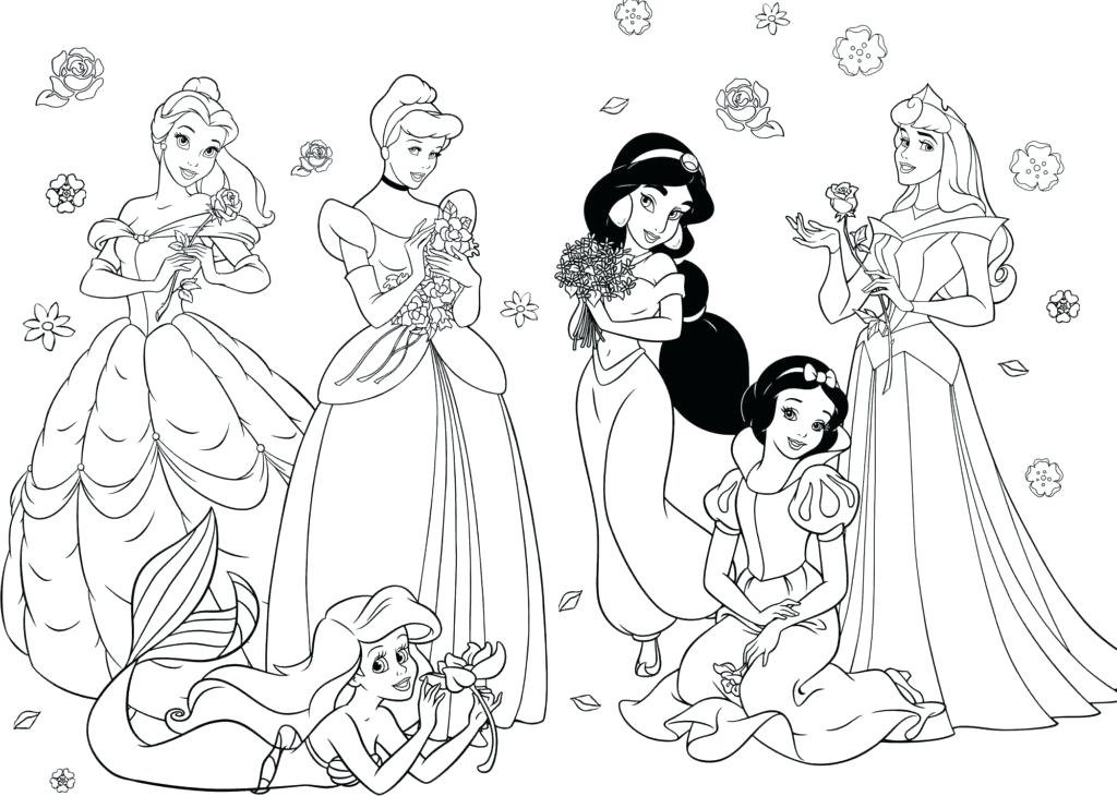 1024x730 Coloring Pages For Ariel Coloring Pages Princess Coloring Pages