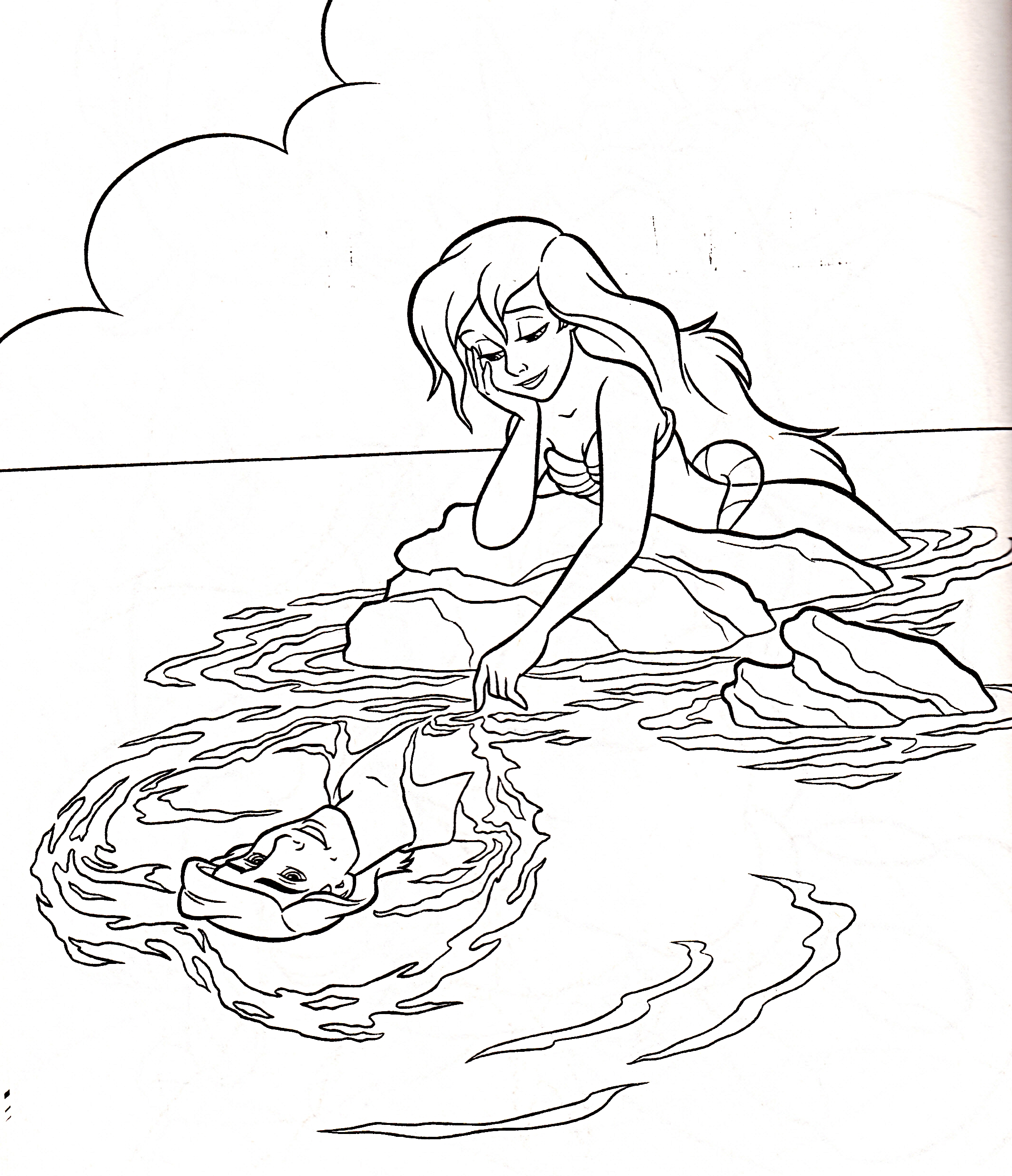 2120x2462 Disney Ariel And Eric Coloring Pages
