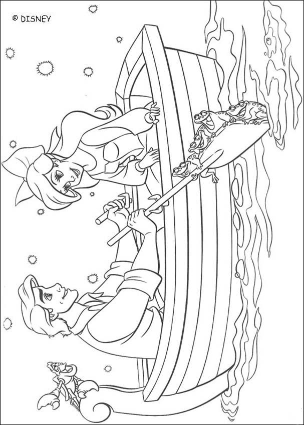 607x850 The Little Mermaid Coloring Pages Ariel And Eric